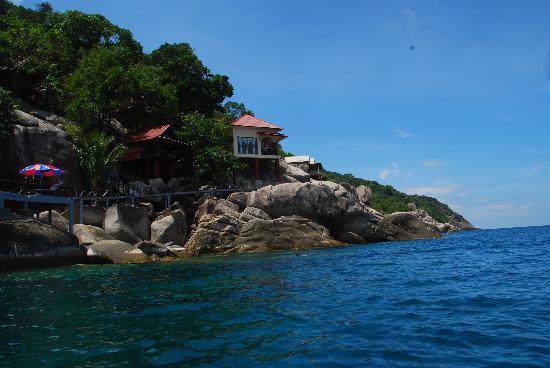 Mango Bay Grand Resort : 崖壁上的小木屋