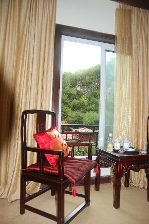 Tianshengqiao Hot Spring Resort : 我们居住的酒店标间
