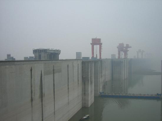 Three Gorges Dam Project: 据说是从最好的观景台照的,可惜还是看不太清楚...