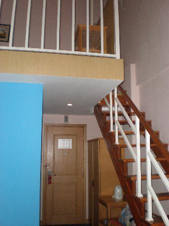Pod Inn Suzhou Shilu: 入住房间的楼梯一角