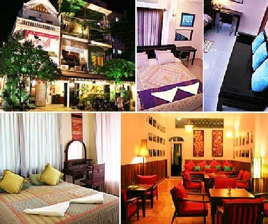 Goldie Boutique Guest House: 旅店小小的大堂,有点泰式风格。