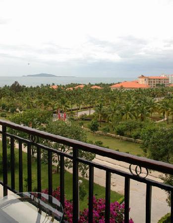 Rujia Seascape Hotel Sanya Yefeng Haiyun: 阳台