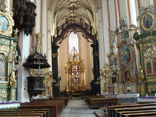 Torun, Poland: 圣玛利亚大教堂的一角