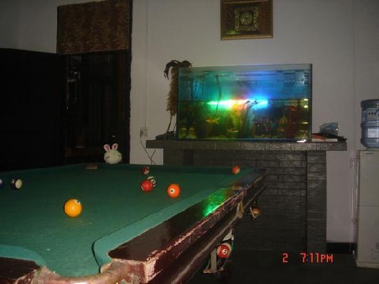 Guilin Donkey Lean Inn : 花园居桌球