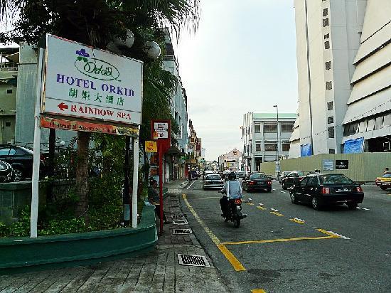 Hotel Orkid Melaka: 酒店指路牌