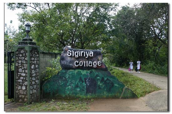 Sigiriya Cottage: 酒店的门口