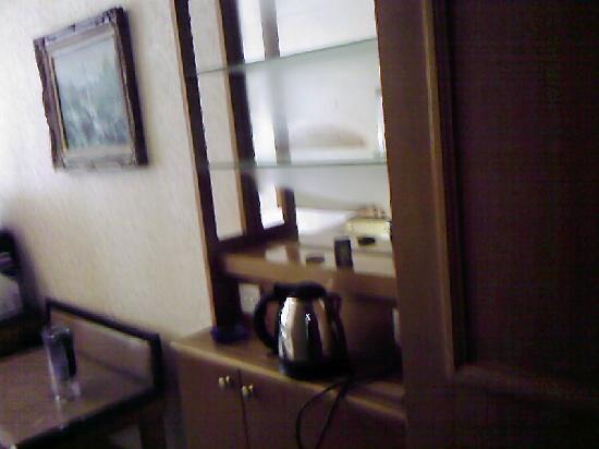 Tianzhuushan Resort : 水壶,烧开了不会自动断电