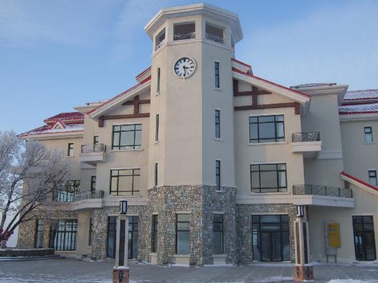 Club Med Yabuli: 山顶的沐云楼,还没有开放的.
