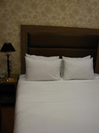Athens Lotus Hotel: 房间的床