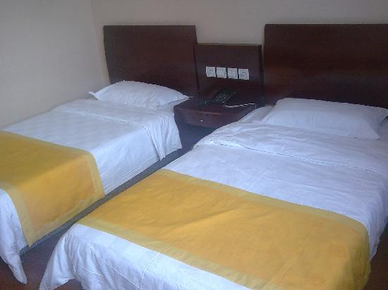Datong Labor Union Hotel: 床铺叠的很规矩