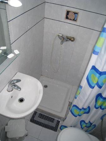 Delfini Hotel: 卫生间,蛮小的