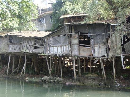 Fenghuang Ancient City Museum: 这是百年吊脚楼,当时觉得很有意义就拍了,其实可以看到水质很脏很脏。
