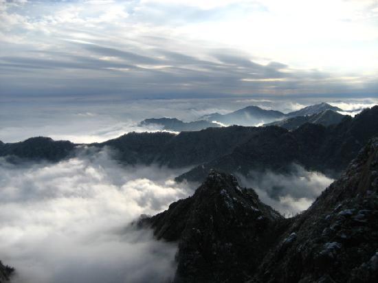 Huangshan, จีน: 感觉在天上