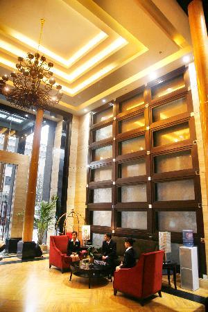 Xinzhishang Business Apartment: 大厅休息区