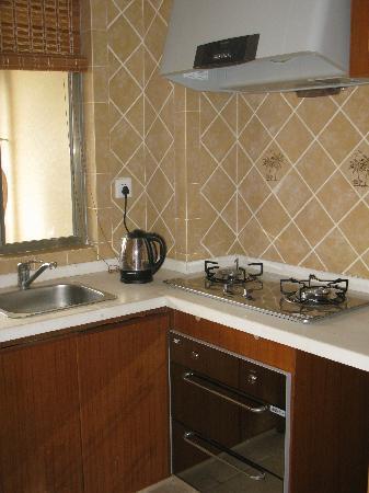 Bingsanwan Apartment-hotel Resort : 厨房