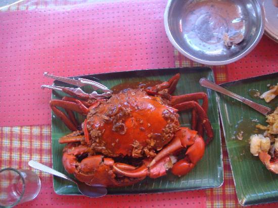 Boracay, Philippines: 3斤重的螃蟹