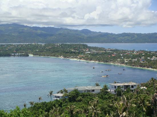 Boracay, Philippines: 山顶看长滩岛全貌