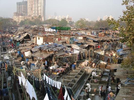 Мумбаи (Бомбей), Индия: 著名的洗衣厂