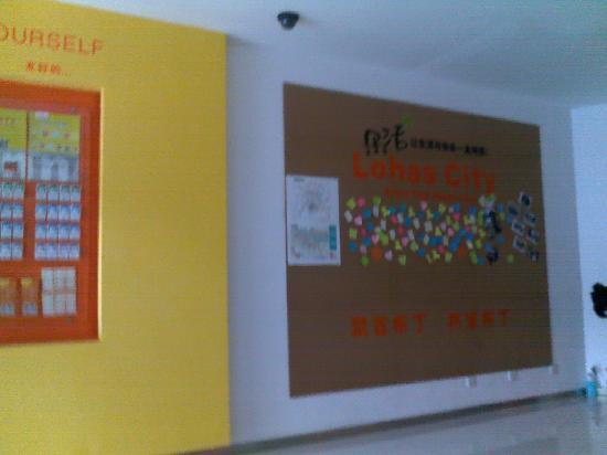 Pod Inn Shanghai Tongji Hospital Daning Lingshi Park: 大厅墙面