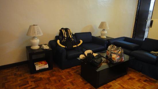El Rico Suites Apartelle: 客厅