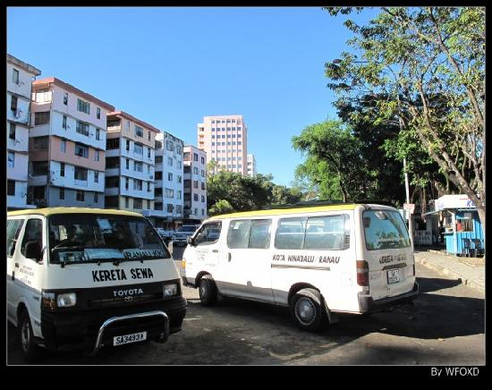 King Park Hotel Kota Kinabalu: 酒店就在亚庇老车站旁边
