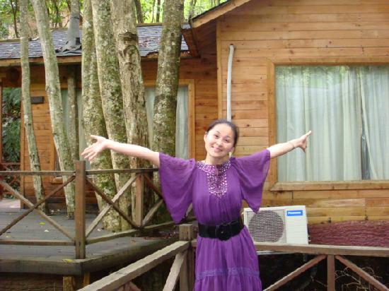 Panlong Paradise Resort: 小木屋的外景