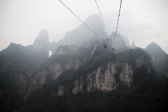 Гора Тяньмэнь вЧжанцзяцзе: 缆车与天门洞