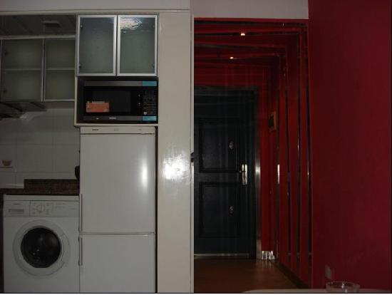 Yijia Apartment Hotel Changsha Yingshang International: 这是厨房