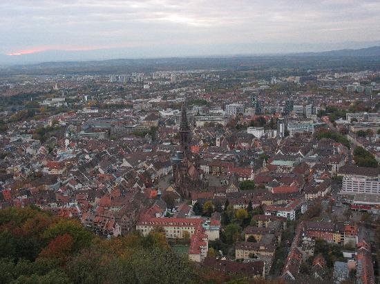 Fryburg Bryzgowijski, Niemcy: 鸟瞰Freiburg