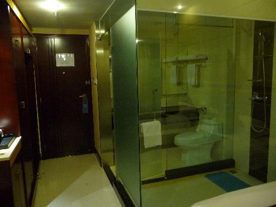 Hainan Hotel: 透明的卫生间