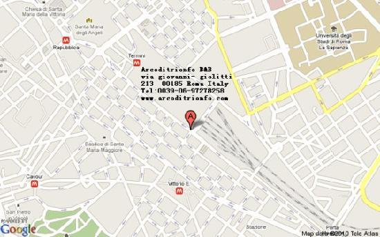 Arc de Triomphe Hotel: 罗马凯旋门宾馆地图位置