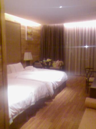 Panlong Paradise Resort: 从进门处(约浴室门外)看进房间