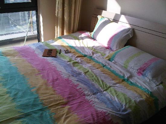 Love Chengdu Apartment Hotel Chengdu Wangfujing: 我们的猪窝床
