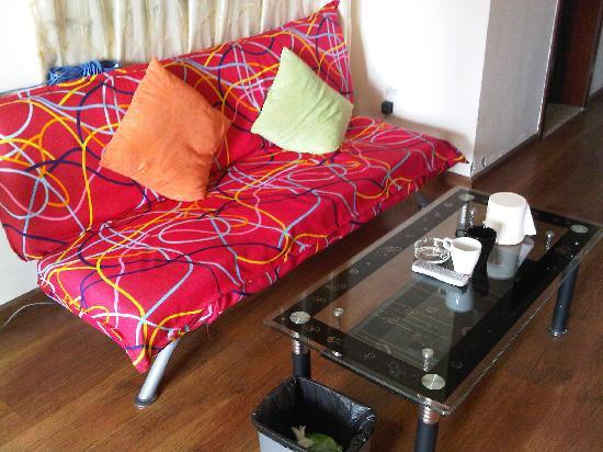 Love Chengdu Apartment Hotel Chengdu Wangfujing: 温馨的沙发