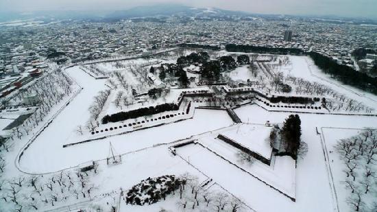 Hokkaido, Japan: 北海道五陵郭,五星建筑之典范。