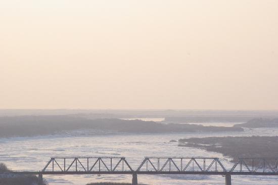 Hunchun, Chine : 位于图们江上的俄朝铁路桥