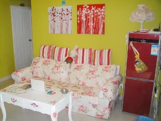 Xiaolou Tinghai Guest House Dadonghai: 爱琴海公用客厅