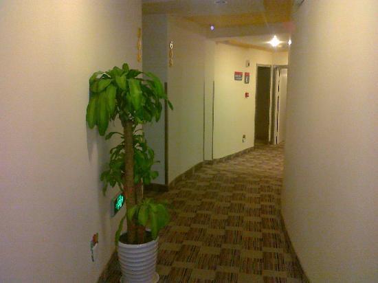 Grace Inn (Qingdao Zhanqiao): 这是通道,房间就在通道的副过道里面,隔音性比较强。