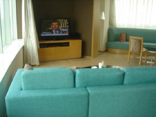 Somerset Riverview Chengdu: 明亮宽敞的客厅