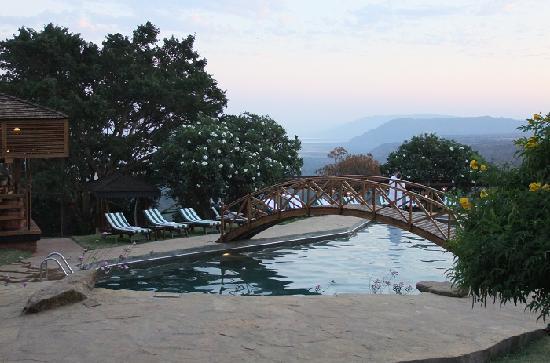 Lake Manyara Hotel: 游泳池可以俯瞰马亚拉湖,视觉很爽!