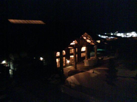 Great Wolf Lodge: 从我住的房间看过去的旅馆大门