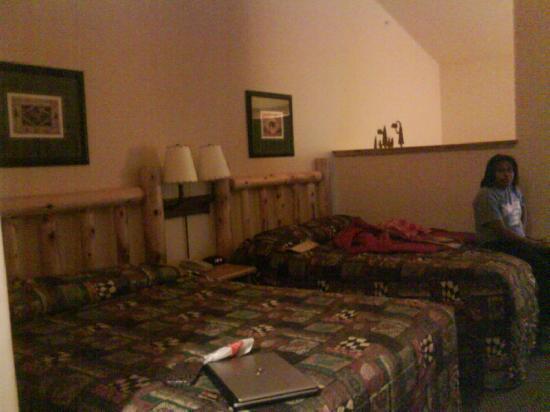 Great Wolf Lodge: 我的房间。(旁边坐着的是我的室友~)