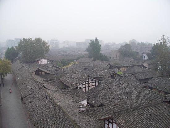 Langzhong, Kina: 在中天楼眺古镇