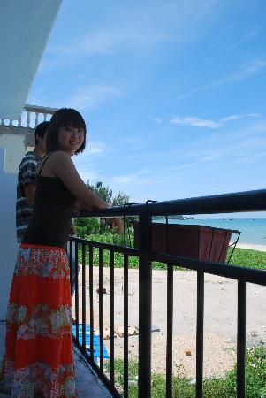 Pipiluo Bluehouse Hostel: 极致海景房的阳台