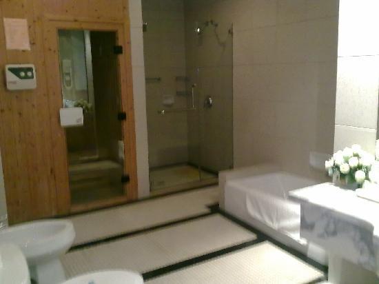 Jingyuan Shuizhuang: 带桑拿的浴室