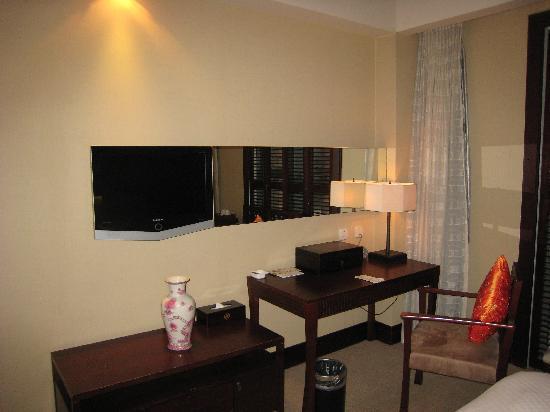 Genway International Hotel : 电视尽管是液晶的,但是有些小