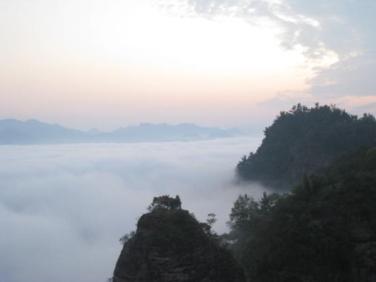 Xiuning County, China: 齐云山云海