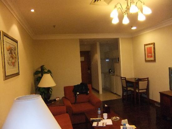 Metropark Hotel Shenzhen: 豪华套间客厅