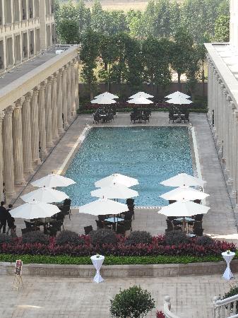 Winton Hotel: 后花园游泳池日景