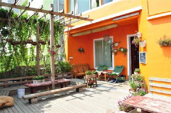 Chacha Nali Seaside Hostel: 小院